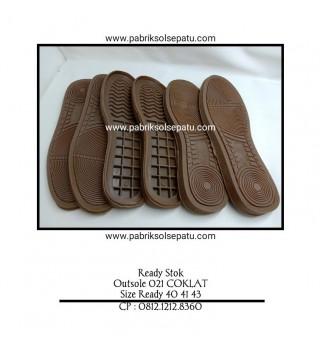 Outsole Karet 021 Coklat (Imitasi Adidas)