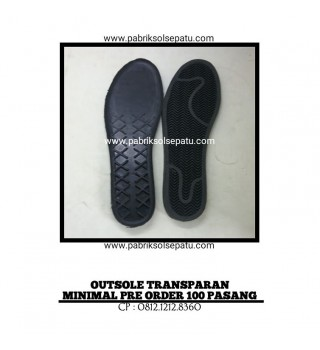 Outsole sneakers hitam 39 - 43