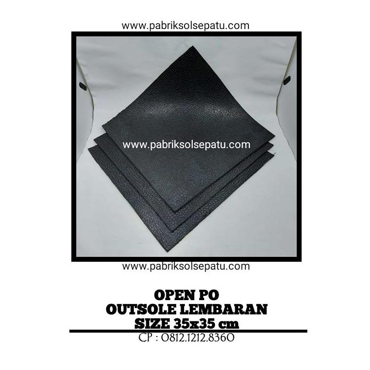 Outsole Lembaran Karet 35 x 35 cm