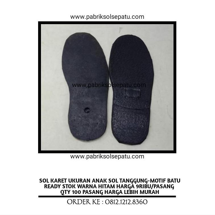 Outsole Karet Tanggung-Sol Tanggung Karet Motif Batu